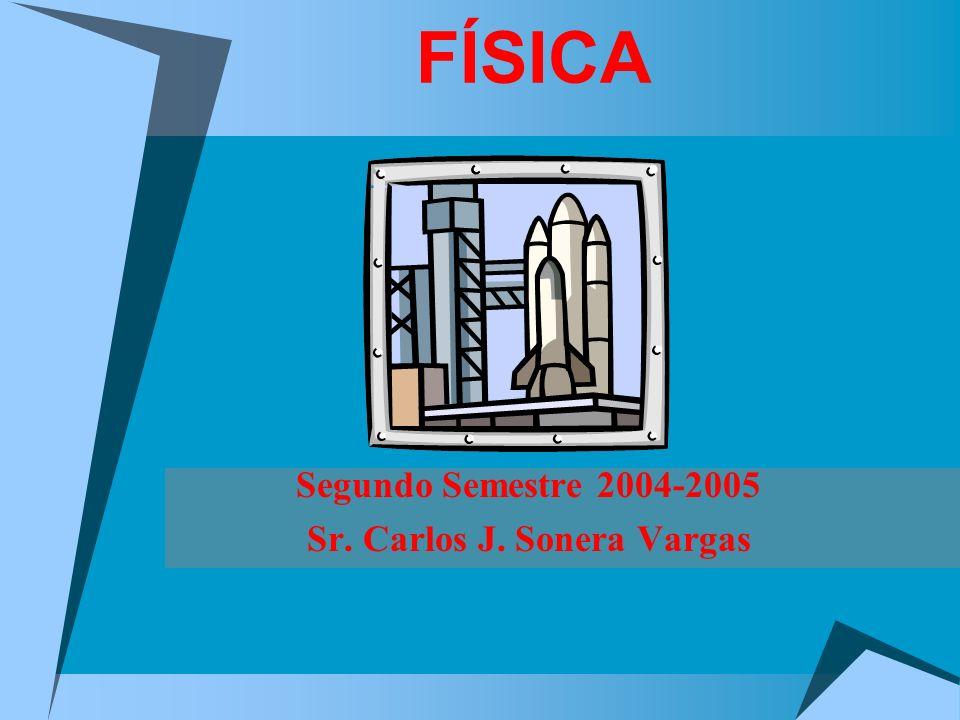 FÍSICA Segundo Semestre 2004-2005 Sr. Carlos J. Sonera Vargas