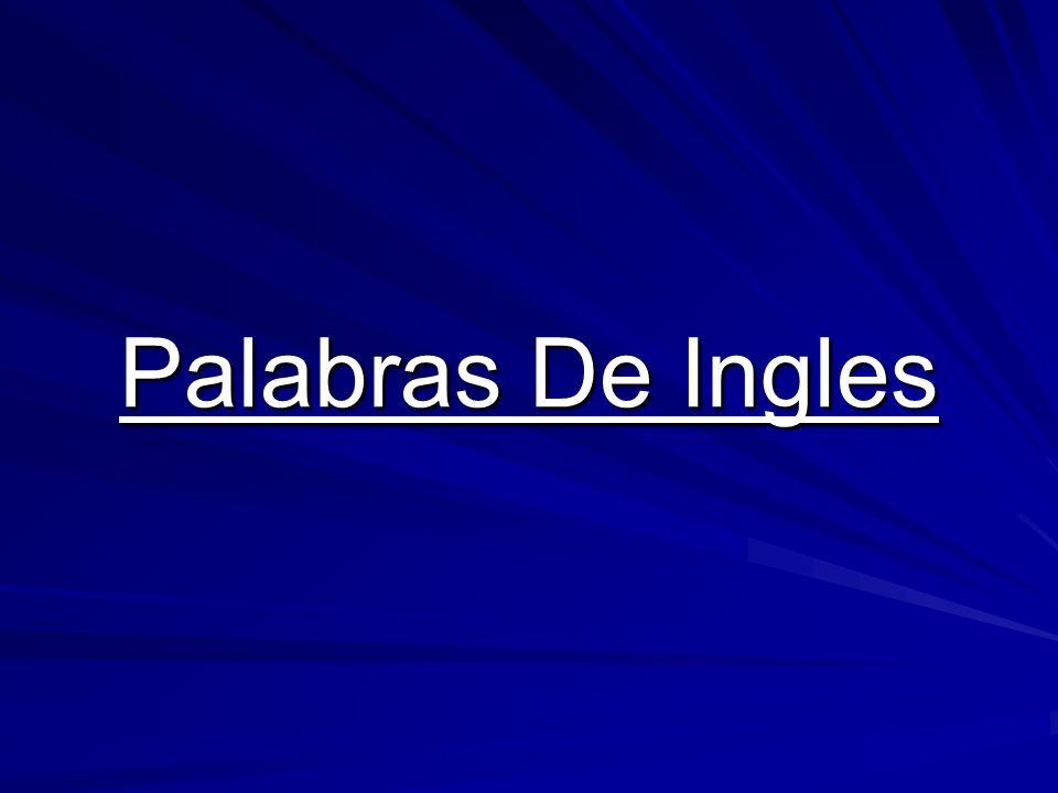 Palabras De Ingles