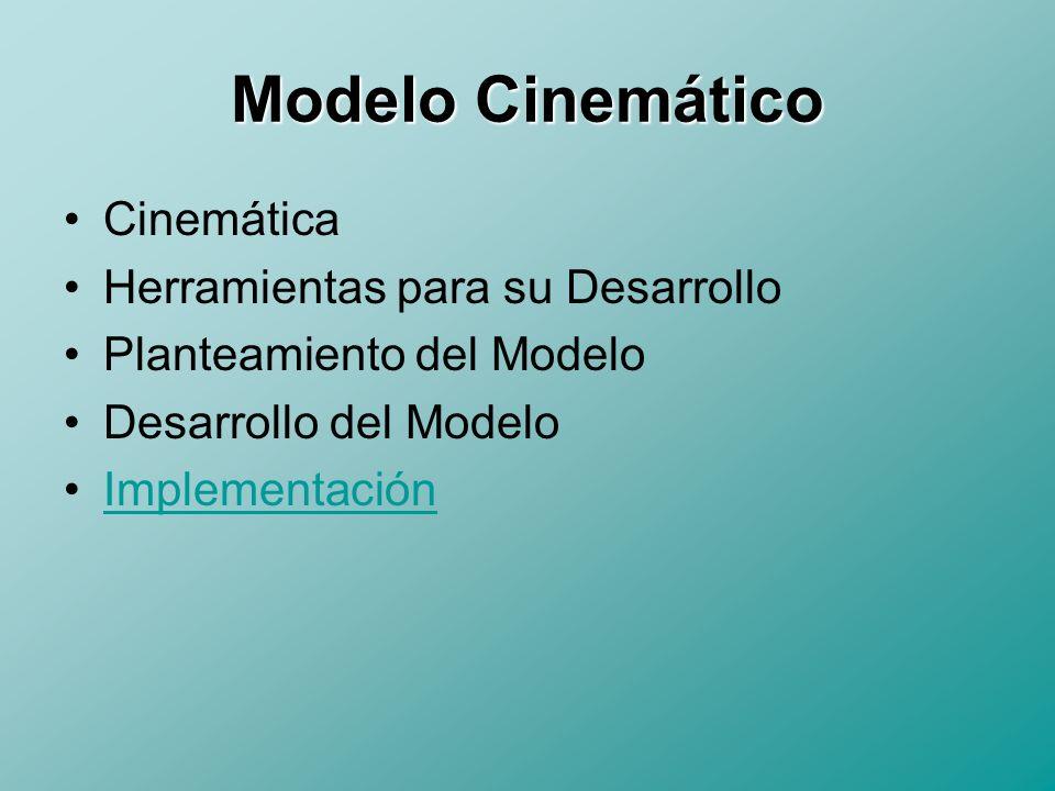 Cinemática La cinemática del robot estudia el movimiento del mismo con respecto a un sistema de referencia.