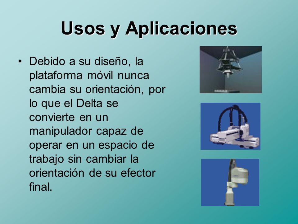 Usos y Aplicaciones Las aplicaciones actuales cuentan: –Empaquetamiento secundario de Productos –Máquinas Herramienta –Equipo Médico