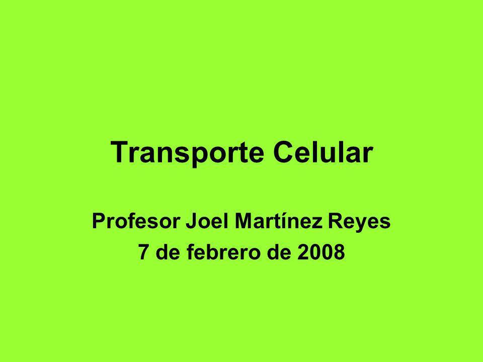 Transporte Celular Profesor Joel Martínez Reyes 7 de febrero de 2008