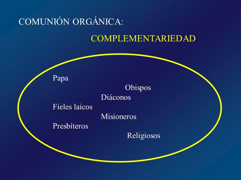 COMUNIÓN MISIONERA: APOSTOLADO Responsabilidad de todos en la misión que Cristo asignó a su Iglesia en la tierra
