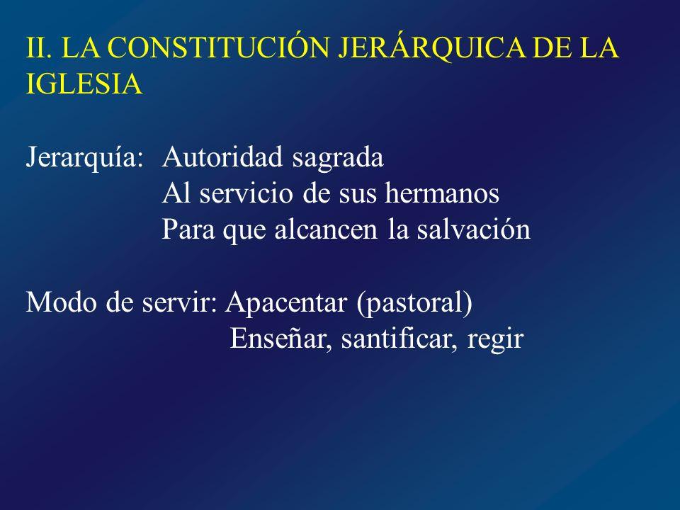 INSTITUCIÓN DIVINA DE LA JERARQUÍA ¿Cuál es el origen de la jerarquía.