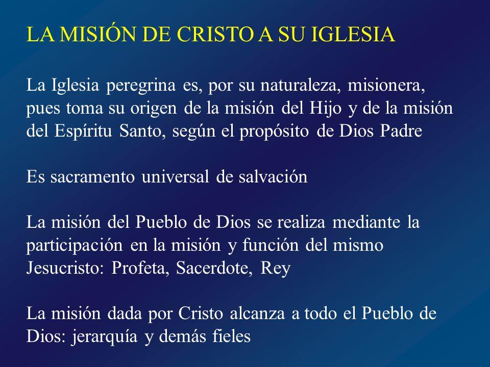 MISIÓN DE LA JERARQUÍA La potestad de magisterio y el oficio de enseñar Fundamento evangélico Mc 16, 15 Id por todo el mundo y predicad el Evangelio a toda criatura Lc 10, 16 Quien a vosotros escucha, a Mí me escucha, y quien a vosotros rechaza, a Mí me rechaza; y el que me rechaza a Mí, rechaza a quien me envió Asistencia del Espíritu Santo en este oficio Jn 16, 14 …tomará de lo mío y os lo dará a conocer Jn14, 26 …os lo enseñará todo y os recordará todo lo que yo os he dicho