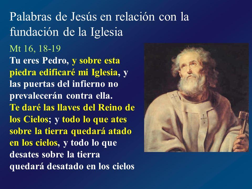 Los hechos de Jesús en relación a la fundación de la Iglesia Elección de los discípulos Vocación de los apóstoles Primado de Pedro