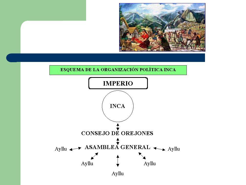 La sociedad incaica estaba dominada por la figura del Inca, que se veneraba como un dios a quien nadie podía mirar directamente.