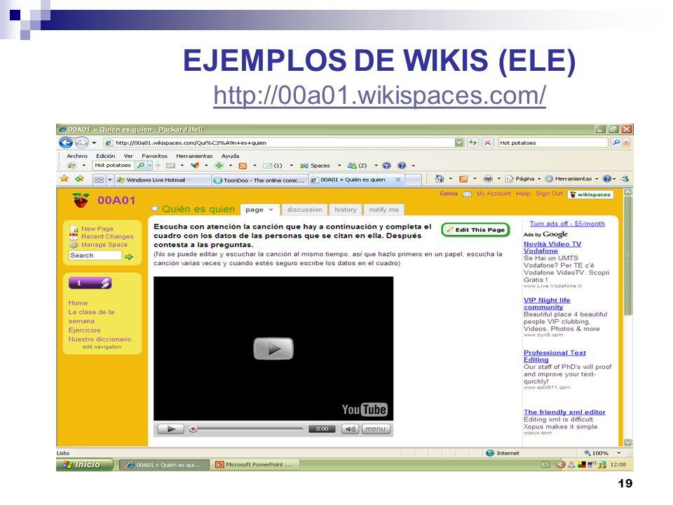 20 EJEMPLOS DE WIKIS (ELE)