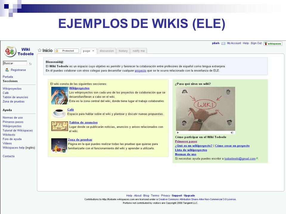 24 EJEMPLOS DE WIKIS (ELE)