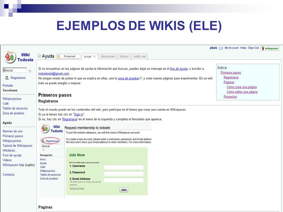 25 EJEMPLOS DE WIKIS (ELE)