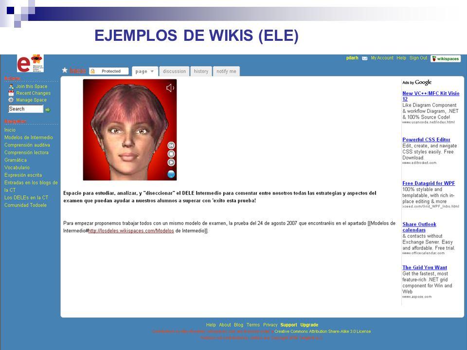 26 Sobre los wikis de ELE 1.¿Cuáles son para profesores.
