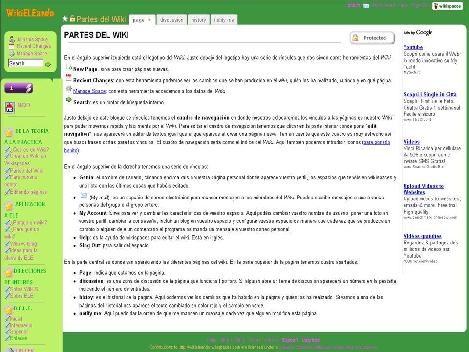 10 EJEMPLOS DE WIKIS (http://narradores.wikispaces.com/)http://narradores.wikispaces.com