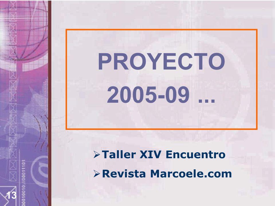 13 PROYECTO 2005-09... Taller XIV Encuentro Revista Marcoele.com