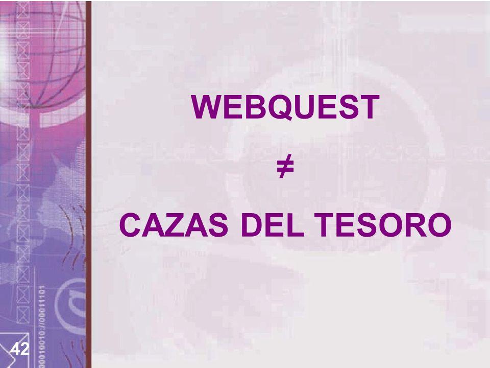 42 WEBQUEST CAZAS DEL TESORO
