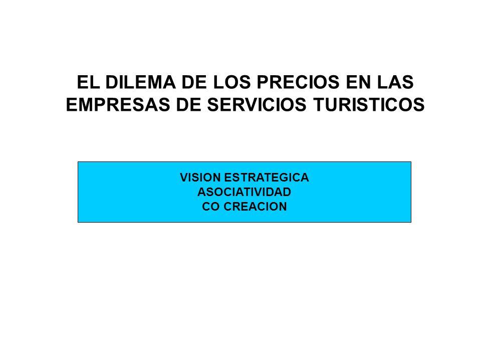 EL DILEMA DE LOS PRECIOS EN LAS EMPRESAS DE SERVICIOS TURISTICOS VISION ESTRATEGICA ASOCIATIVIDAD CO CREACION