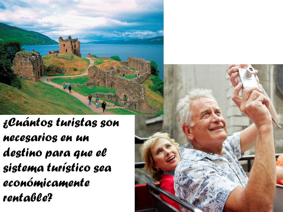 ¿Cuántos turistas son necesarios en un destino para que el sistema turístico sea económicamente rentable