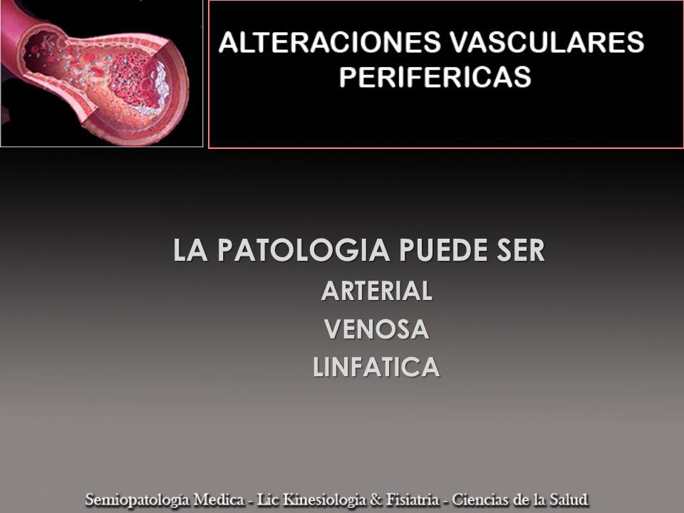 INSUFICIENCIA ARTERIAL CRONICA DE LOS MMII Es la progresiva disminución del aporte sanguíneo a los MMII producidas por el desarrollo de lesiones estenosantes de las arterias
