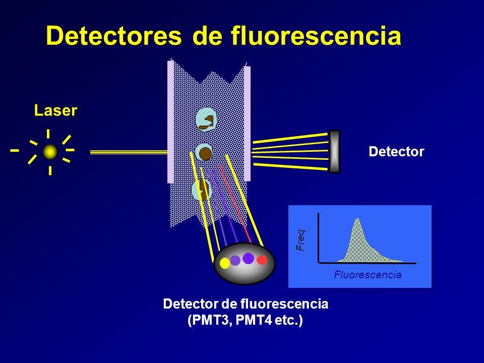 Laser Detectores de fluorescencia Fluorescencia Detector Detector de fluorescencia (PMT3, PMT4 etc.)