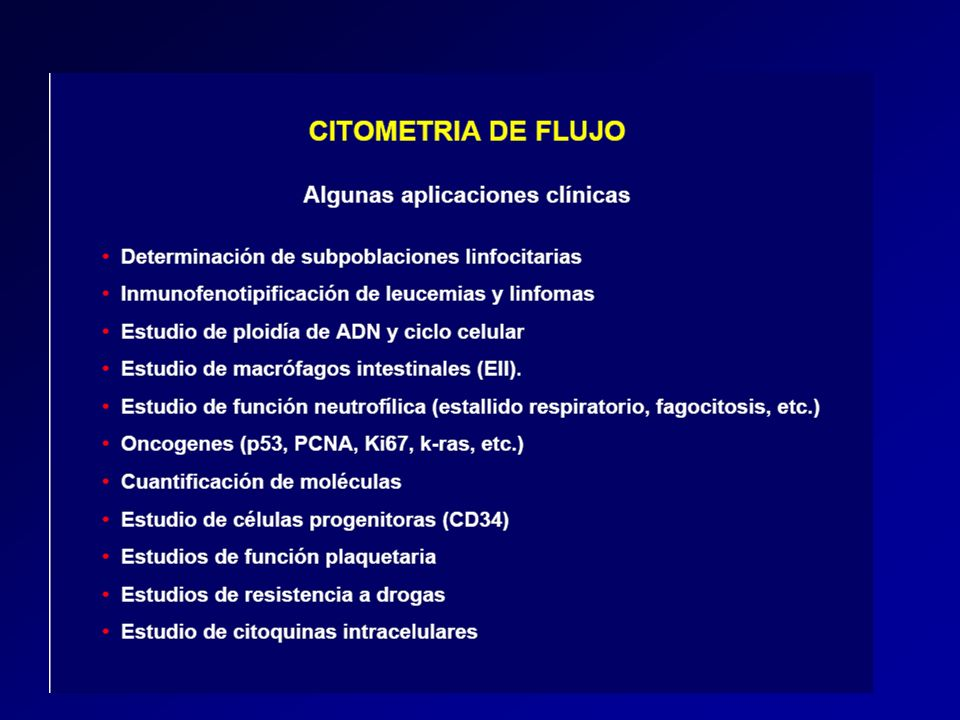 PMT Filtros Dicroicos Bandpass Filtros Optica en los citómetros de flujo Laser 1 2 3 4 Flujo Celular