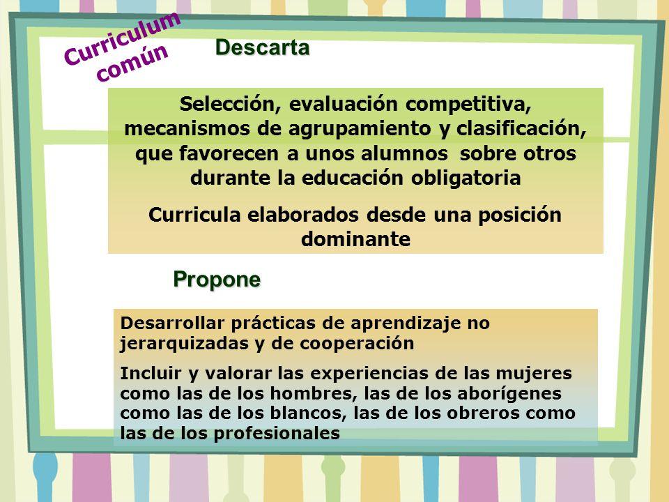 Selección, evaluación competitiva, mecanismos de agrupamiento y clasificación, que favorecen a unos alumnos sobre otros durante la educación obligator
