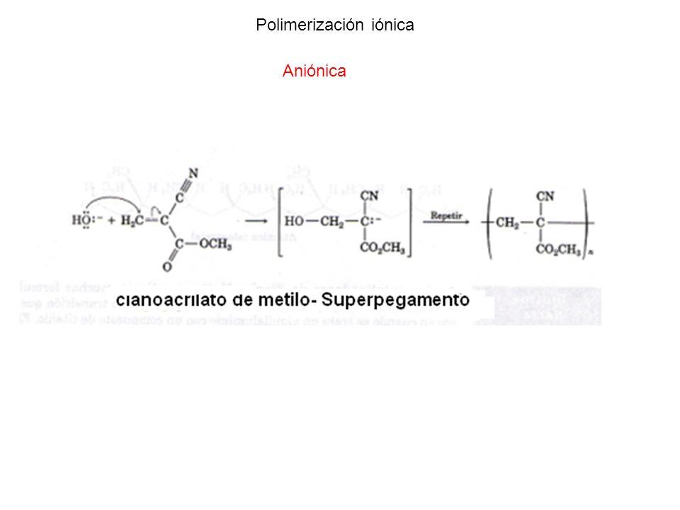Polimerización iónica Aniónica