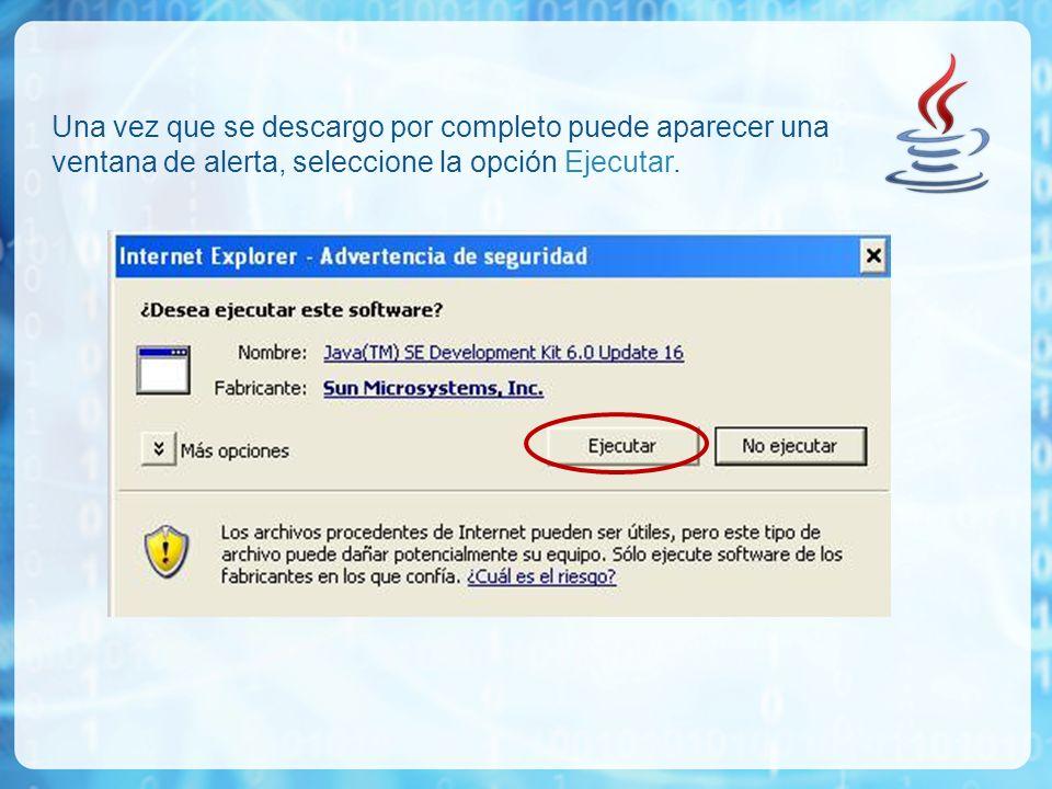 Se presentará el acuerdo de licencia, para poder instalarlo tiene que aceptar estos acuerdos, seleccione la opción Accept.