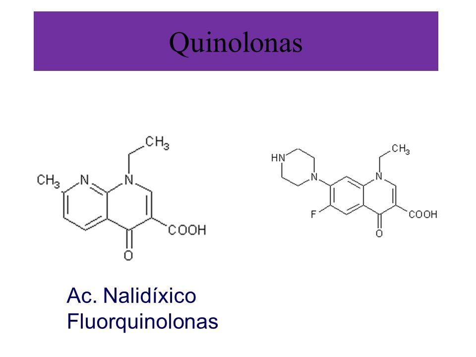 Quinolonas Ac. Nalidíxico Fluorquinolonas