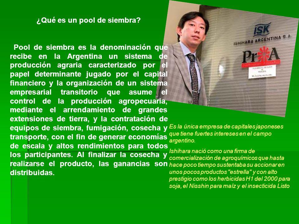 ¿Qué es un pool de siembra? Pool de siembra es la denominación que recibe en la Argentina un sistema de producción agraria caracterizado por el papel