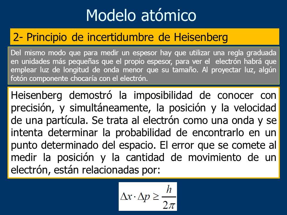 Modelo atómico La mecánica cuántica surge ante la imposibilidad de dar una explicación satisfactoria, con los modelos de la Mecánica clásica, a los es