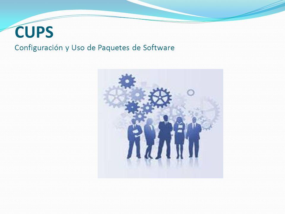CUPS Configuración y Uso de Paquetes de Software