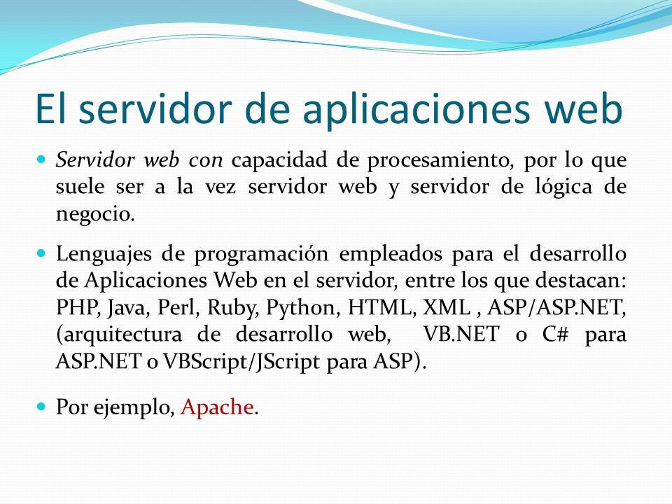 Servidor web con capacidad de procesamiento, por lo que suele ser a la vez servidor web y servidor de lógica de negocio.