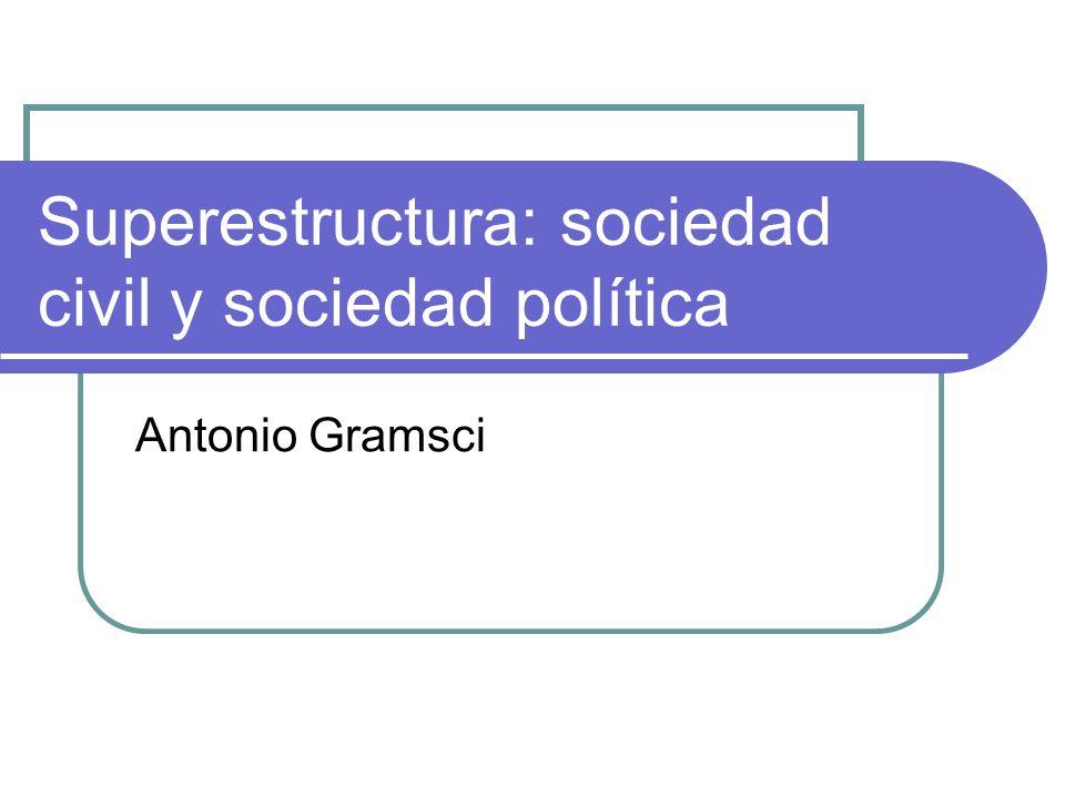 Superestructura: sociedad civil y sociedad política Antonio Gramsci
