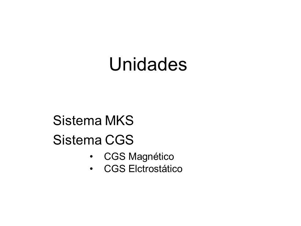 Sistema MKS racionalizado Carga en Coulomb, distancia en metros, fija el valor de k.
