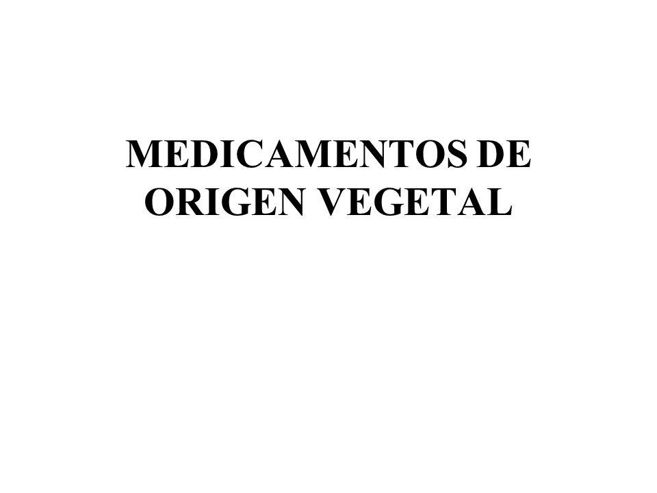 MEDICAMENTOS DE ORIGEN VEGETAL