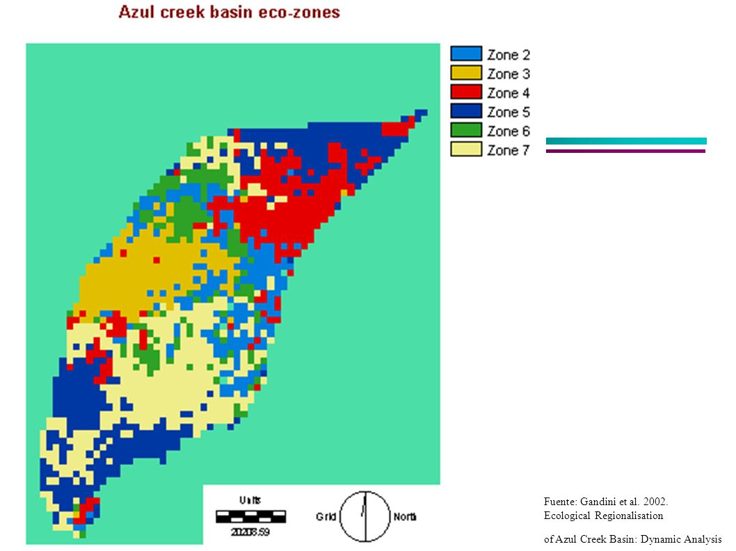 Fuente: Gandini et al. 2002. Ecological Regionalisation of Azul Creek Basin: Dynamic Analysis