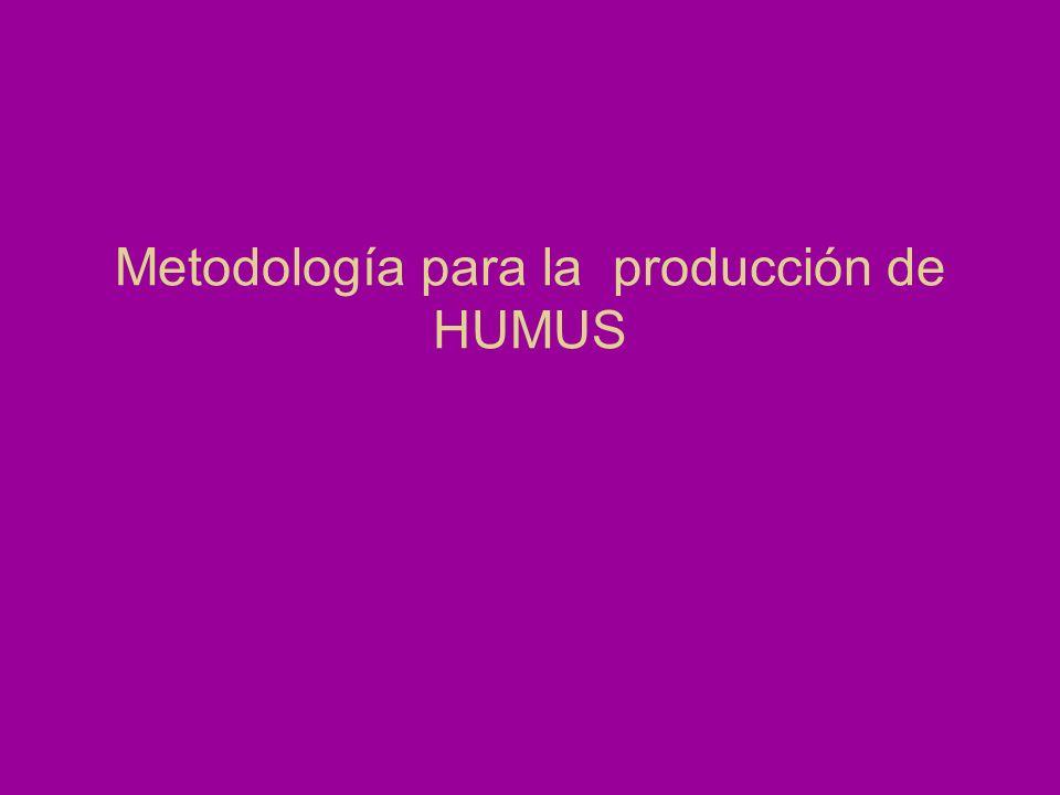 Metodología para la producción de HUMUS