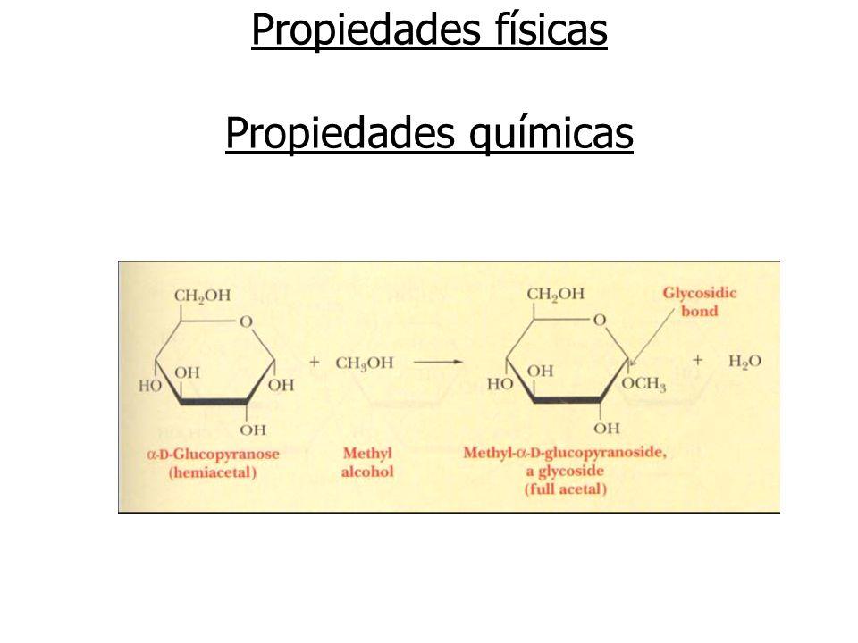 Propiedades físicas Propiedades químicas Formación de éteres y ésteres