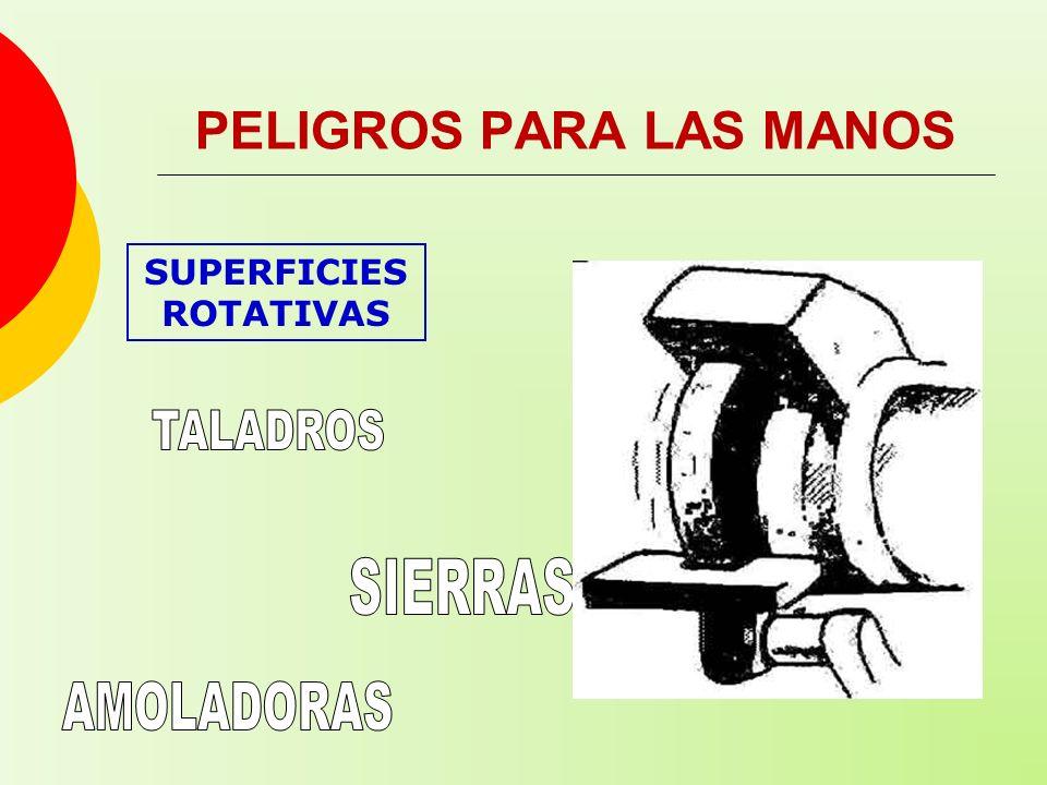 SUPERFICIES ROTATIVAS PELIGROS PARA LAS MANOS