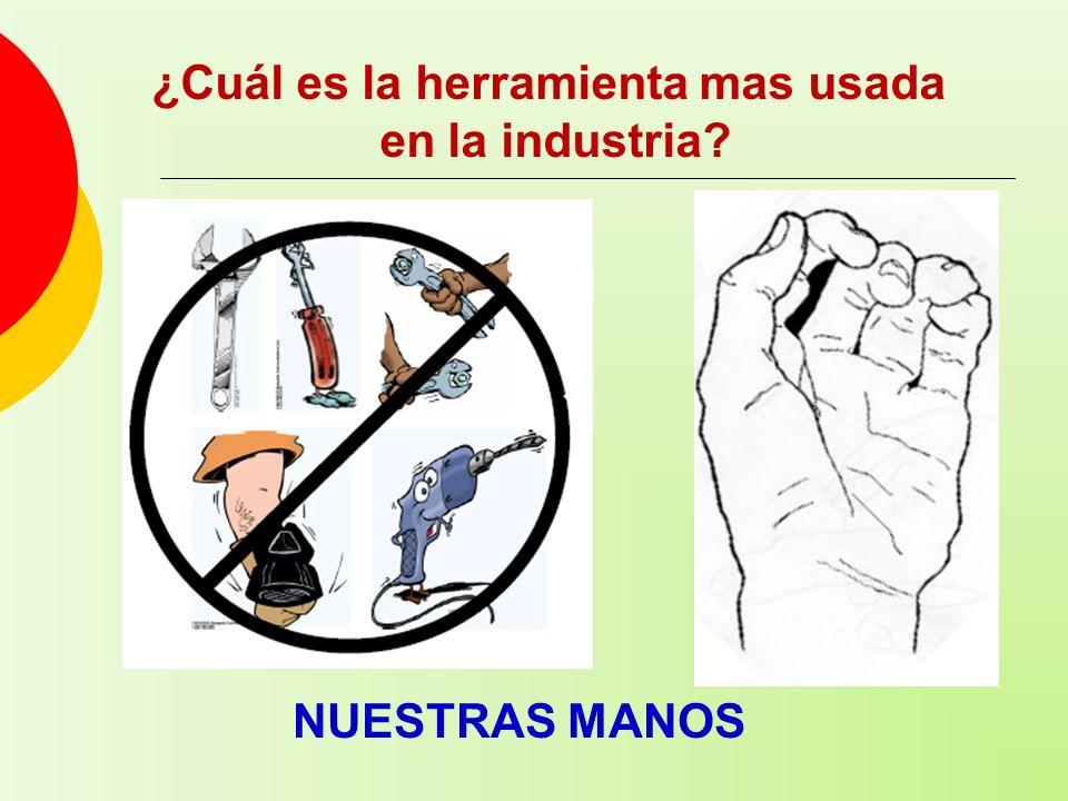 ¿Cuál es la herramienta mas usada en la industria? NUESTRAS MANOS