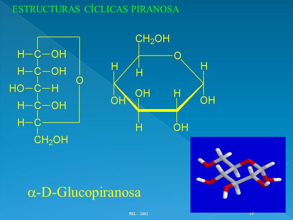 PEL - 2002 19 -D-Glucopiranosa ESTRUCTURAS CÍCLICAS PIRANOSA