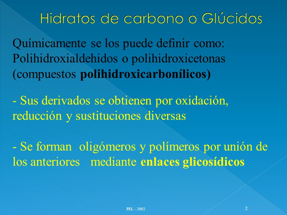 PEL - 2002 23 Derivados OxidaciónReducciónSustitución