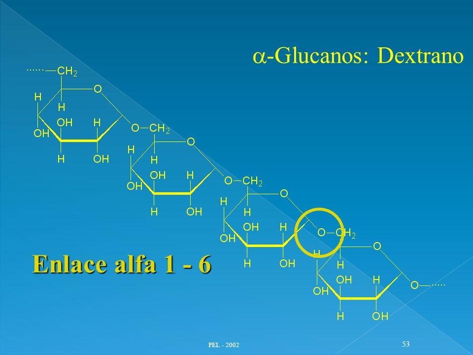 PEL - 2002 53 -Glucanos: Dextrano Enlace alfa 1 - 6