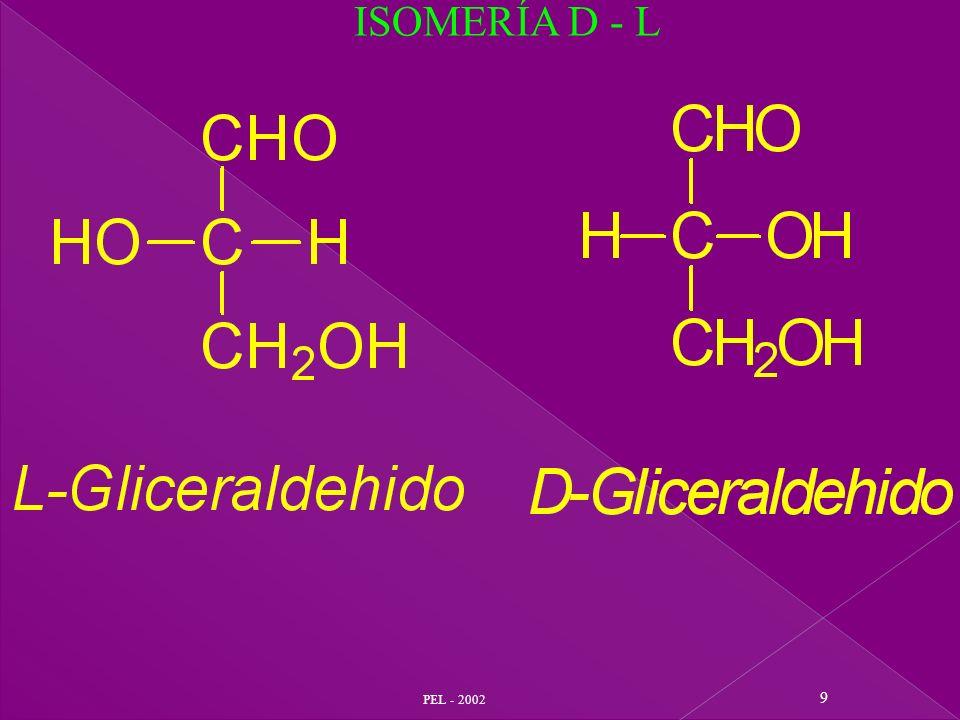 PEL - 2002 40 Productos naturales glicosídicos : - Antocianinas - Taninos - Sapogeninas - Digitálicos, etc.