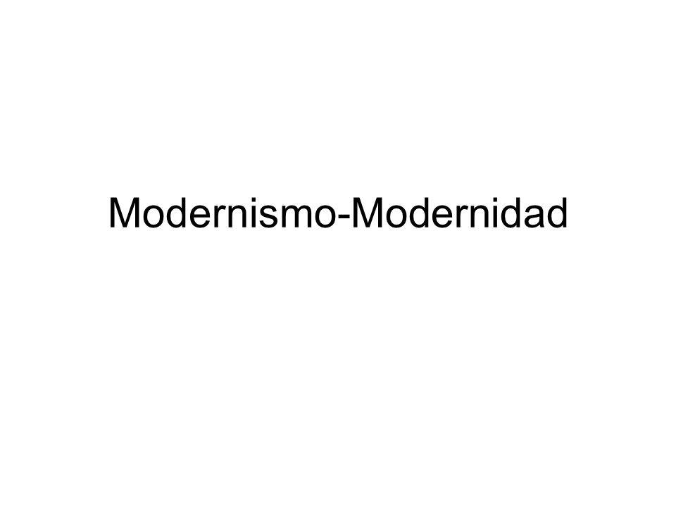 Modernismo-Modernidad