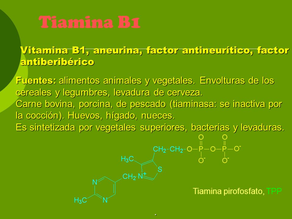 Acción: Interviene en el metabolismo de glúcidos y lípidos.