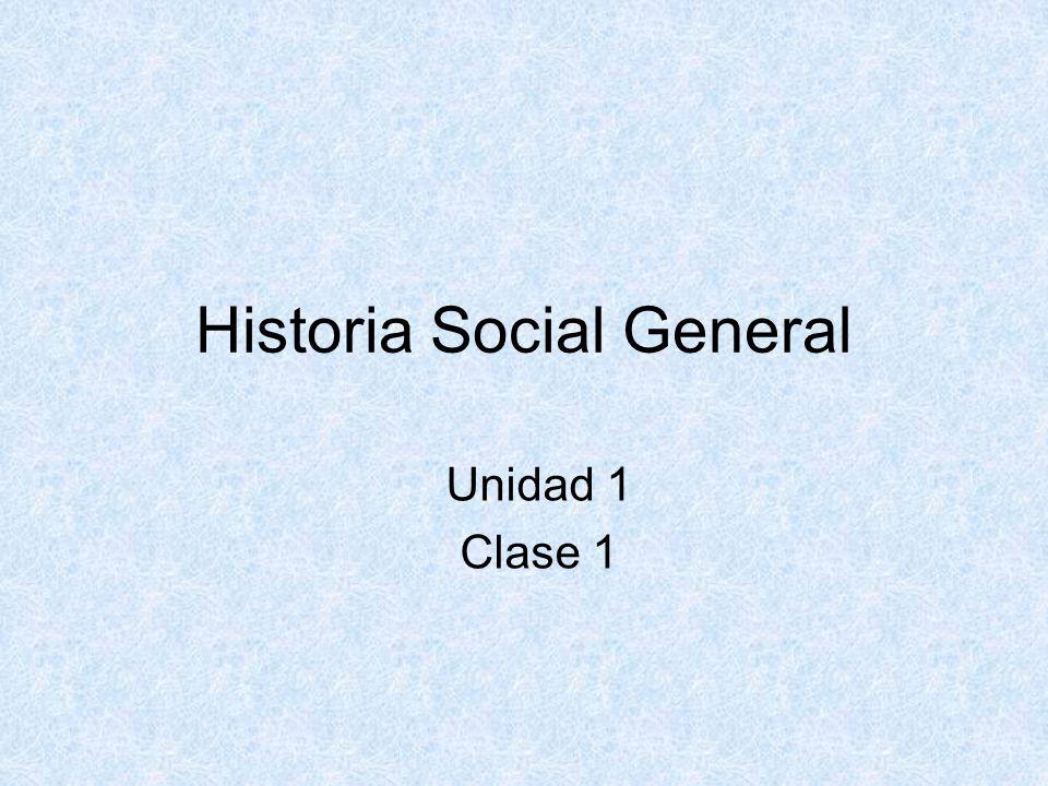 1- ¿Qué entendemos por Historia Social.