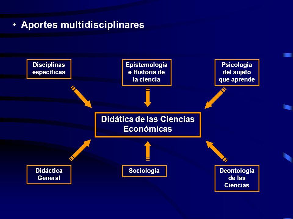 Aportes multidisciplinares Didática de las Ciencias Económicas Disciplinas específicas Epistemología e Historia de la ciencia Psicologia del sujeto qu