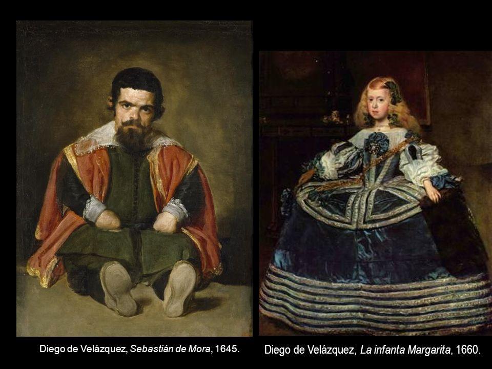 Diego de Velázquez, Sebastián de Mora, 1645. Diego de Velázquez, La infanta Margarita, 1660.