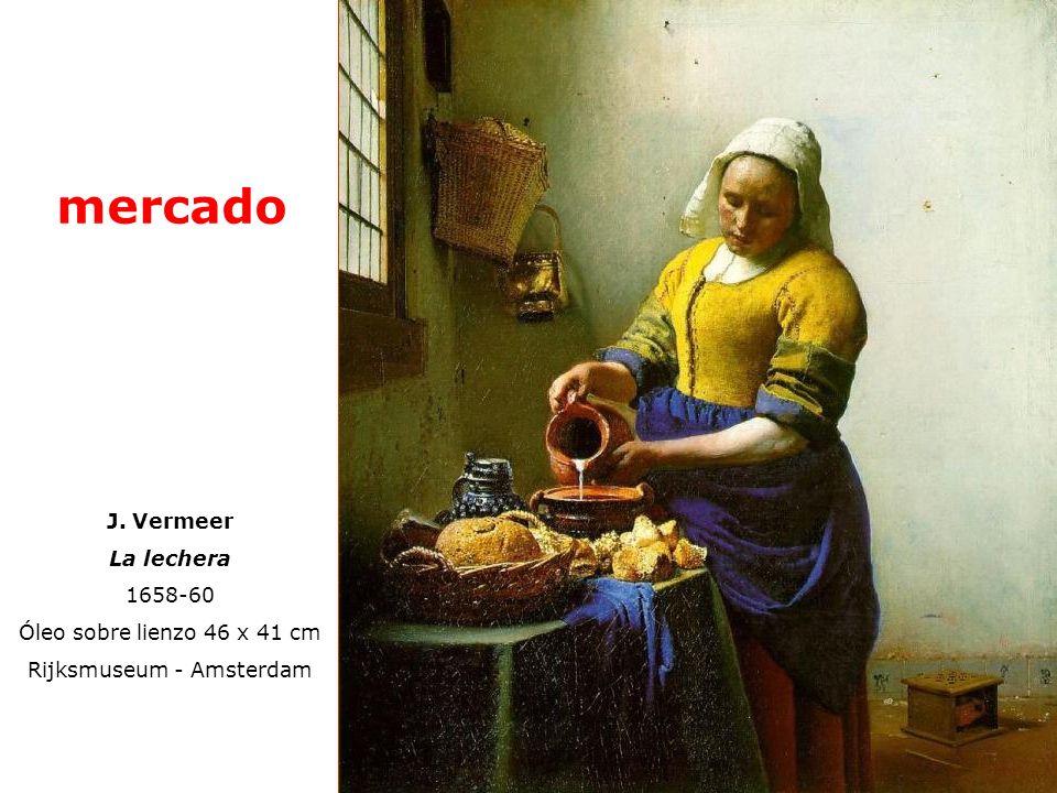 J. Vermeer La lechera 1658-60 Óleo sobre lienzo 46 x 41 cm Rijksmuseum - Amsterdam mercado