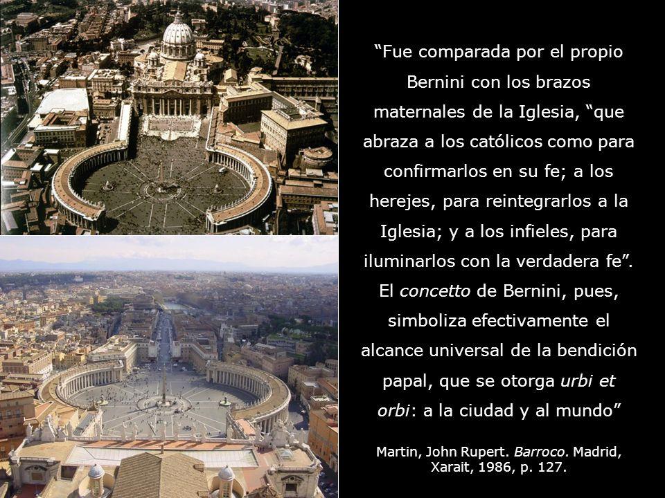 Bernini (1624-1633) Tú eres Pedro, y sobre esta piedra, edificaré mi Iglesia.