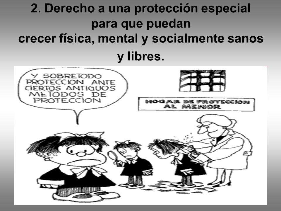2. Derecho a una protección especial para que puedan crecer física, mental y socialmente sanos y libres.